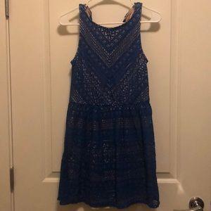 Blue & Nude Dress (Size Large)